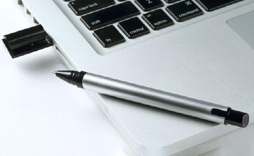 KACO U盘笔:阳极氧化铝笔杆,笔帽内置16GU盘