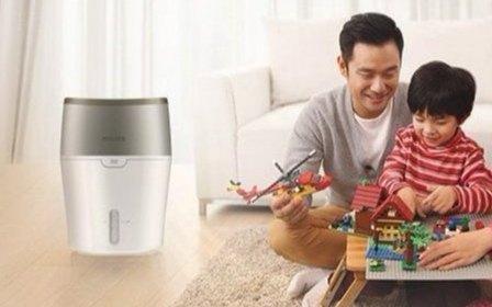 飞利浦空气加湿器:冷蒸发技术无雾输出,智能加湿更安心