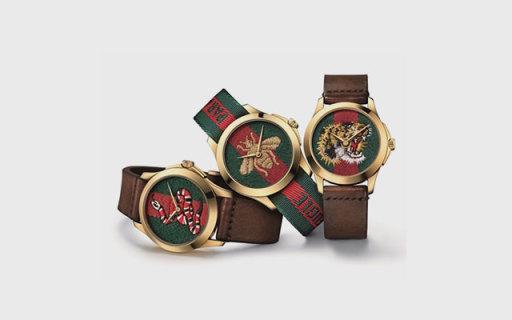 Gucci又出新款暗黑风系列腕表,虫蛇虎造型售价6000起