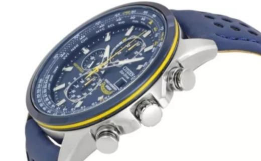 西铁城光动能男士手表:人气皮带版蓝天使,高颜值,5局电波