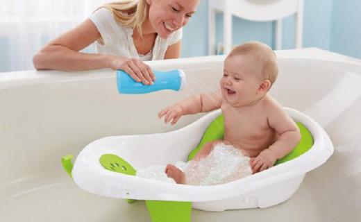 费雪婴儿浴盆:分段设计多年龄段可用,特殊卡座让宝宝更舒适