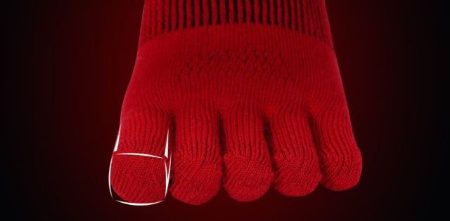 GearLab远红外发热纱3D压缩五指袜