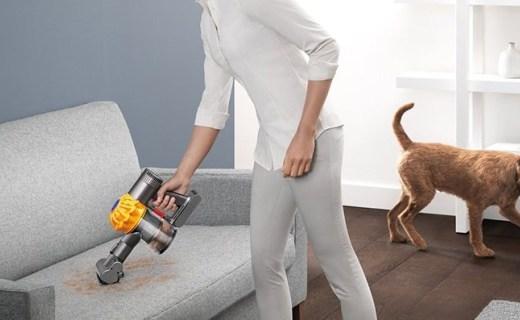戴森手持式吸尘器:20分钟长效清洁,10万转马达强力吸除过敏原