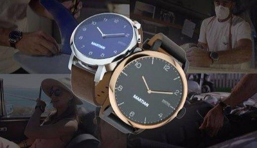 复古造型的智能手表,OLED屏、内置语音助手