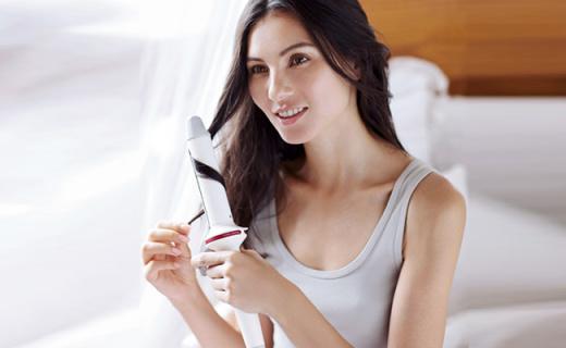LUMIELINA卷发棒:陶瓷微波由内而外强效锁水,低温卷发不伤发