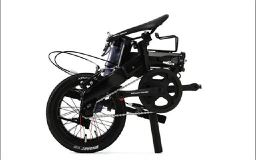 可单手携带的折叠自行车,春季旅游好选择!