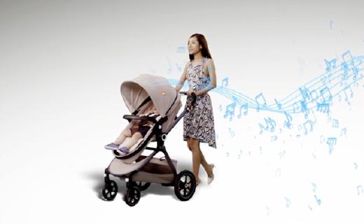 好孩子e智婴儿车,让宝宝置身于音乐厅