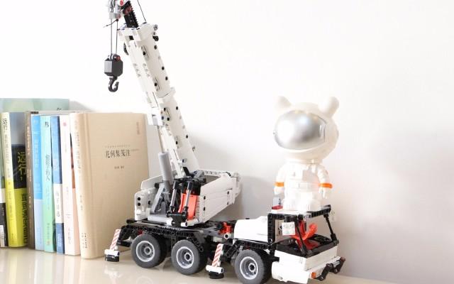 720個零件拼搭米兔積木工程吊車全過程體驗!
