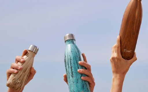 Swell元素系列保温瓶:独特大理石花纹瓶身,双层隔离保温更久