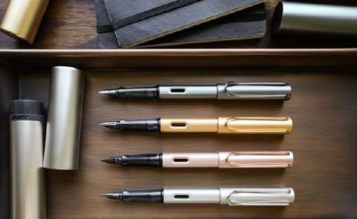 凌美50周年纪念Lx系列钢笔,金属笔身质感出色