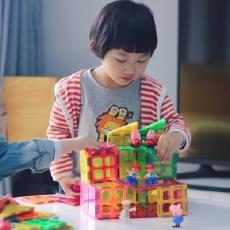 """自带魔力的""""塑料片"""",宝贝用它拼出一个世界 — Giromag磁力片多彩积木体验"""