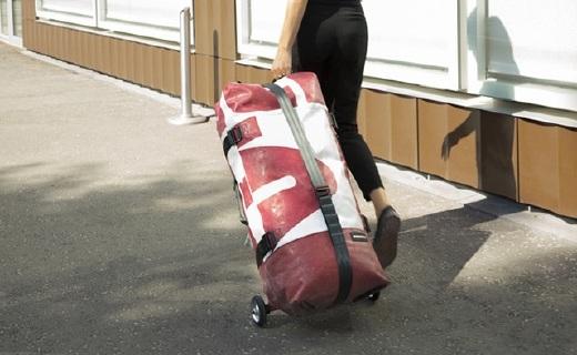 可折叠的充气旅行箱,假期出游再也不用大包小包