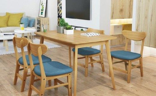 择木宜居实木餐桌:选材优质凸现质感,简约设计好看百搭