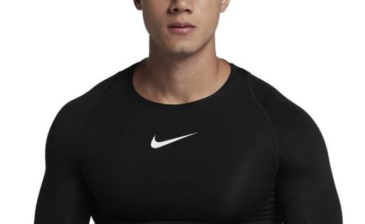 耐克运动紧身衣:纤维面料亲肤透气,立体剪裁弹力贴身