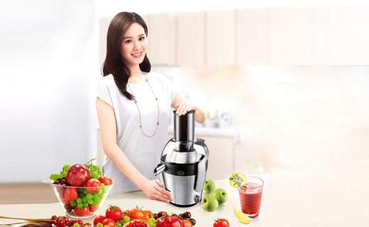 飞利浦HR1871榨汁机:创新倒置式滤网,大容量省时省力
