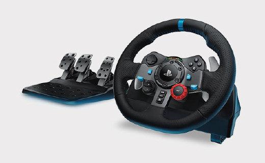罗技G29游戏方向盘:精准控制,皮革舒适手感,老司机必备