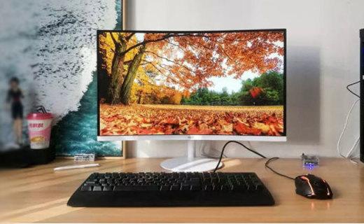 HKC惠科C270显示器,不足千元的27寸曲面显示器