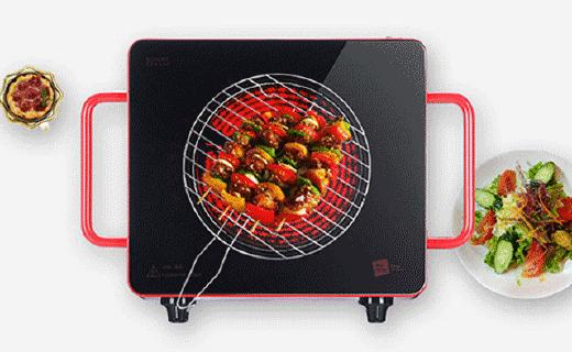 米技Home Cube4电陶炉:烧烤火锅一机搞定,红外加热静音无辐射