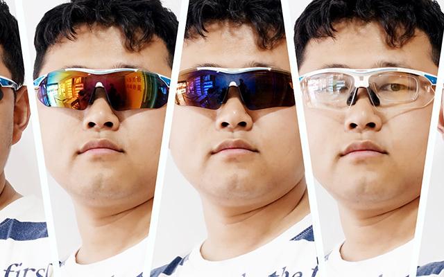 搭配5款镜片的骑行眼镜,有效防紫外线适用各种环境
