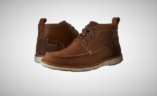 其乐休闲短靴:精选牛皮柔软透气,简洁利落时尚百搭