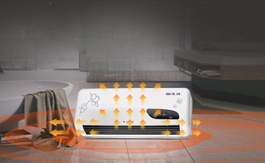 先锋DQ1331暖风机:壁挂式设计节省空间,居浴两用即开即热