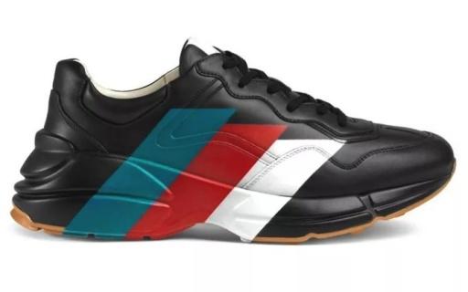 Gucci老爹鞋推出全新配色,标志性三线图案,浓郁复古风