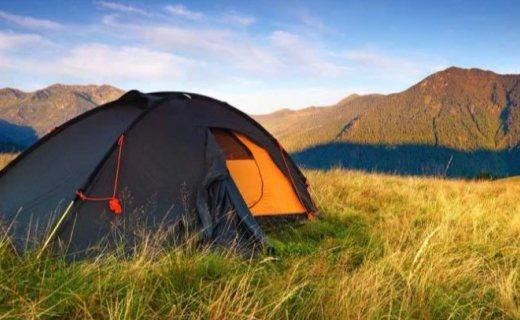Ultrasport露营户外帐篷 :玻璃纤维轻盈便捷,半圆形设计有效防风