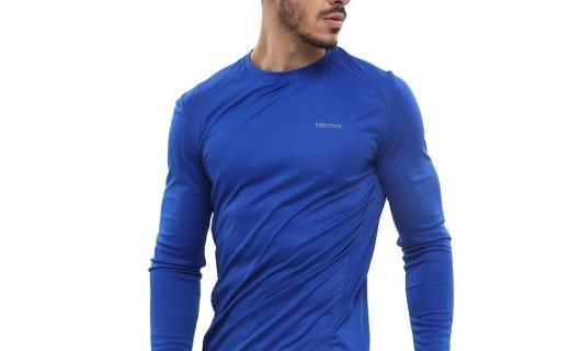 土拨鼠 S60410运动T恤:速干针织面料轻量透气,UPF50防晒指数