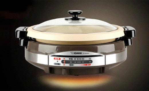 象印EP-RAH30C电热锅:多段式火力控制,烤涮一体更方便