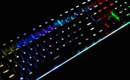雷柏V720机械键盘:可拆卸式手托,炫酷RGB背光系统