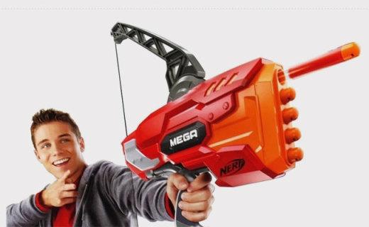 孩之宝MEGA系列软弹弓箭:热火系列射程最远,可连续射击