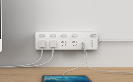 ORICO NPC智能插座: 2.4A大电流USB输出,带防浪涌?;?>                 <div class=