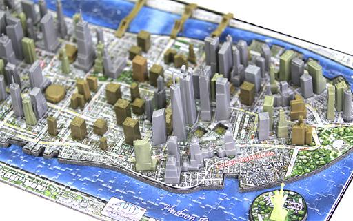 4D CityScape纽约市立体拼图:再现纽约市历史,700块颗粒专治高玩