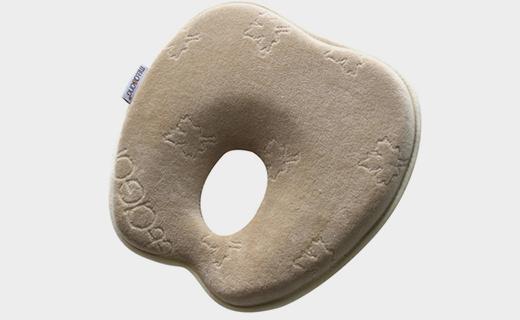 mittaGonG苹果型婴儿枕:记忆泡沫枕,防偏头可手洗