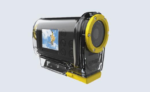 现代H3a摄像机:140度广角全高清拍摄,含头盔支架和防水壳