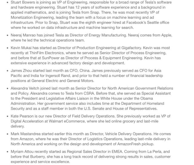 智东西早报:特斯拉宣布8名高管加盟 Facebook将研发AI芯片