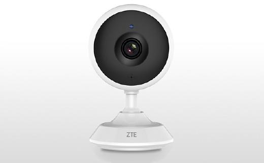 中兴C320摄像头:120度大广角红外夜视,支持实时语音通话