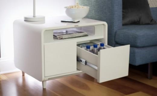 史上最智能床头柜:冰箱、音箱、无线充电,无所不能!