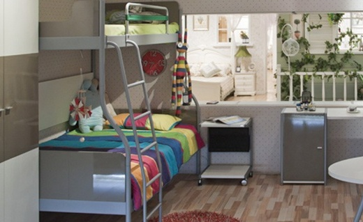 Catking双层高低床:金属框架稳固结实,二胎家庭必备