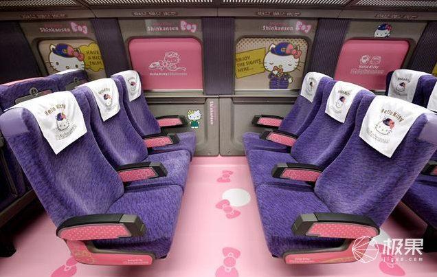 想坐!日本HelloKitty主题列车,那无处安放的爆棚少女心...