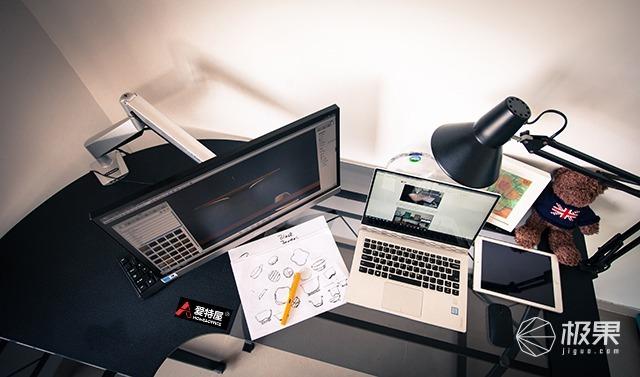 爱特屋钢化玻璃转角电脑桌