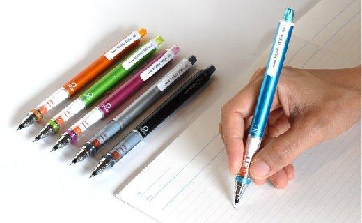 三菱M5-450机动自转铅笔:书写时缓慢旋转,保证笔迹始终均匀
