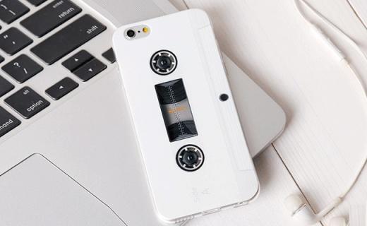 Hidog磁带手机壳:硅胶材质浮雕工艺,好看又抗摔