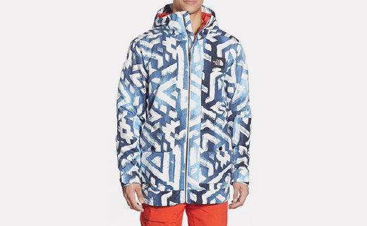 北面这款无畏风雨能抗能顶的男款复古滑雪冲锋衣,时尚百搭还舒适