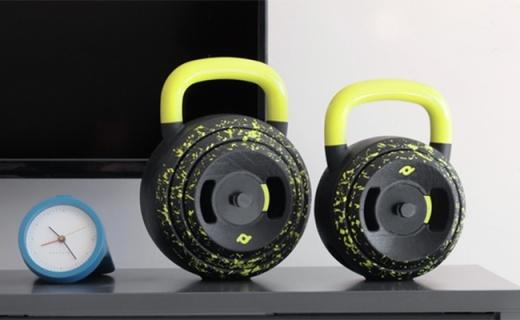 仅巴掌大的模块化哑铃,多重量可调全身都能练