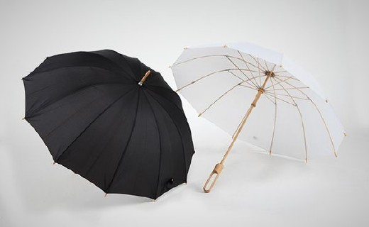 竹语中国风雨伞:IF设计大奖外形,优质淡竹结实耐用