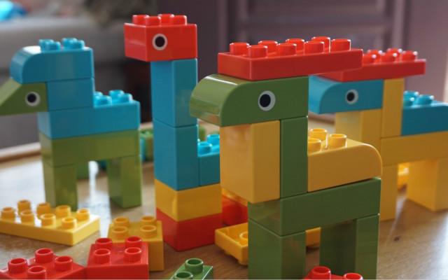 米兔动物乐园大颗粒积木,让孩子自己动手认识动物世界
