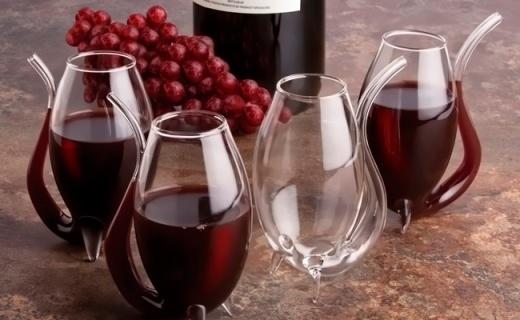 Final touch酒杯四件套:弧形新颖造型,逼格满满可醒红酒