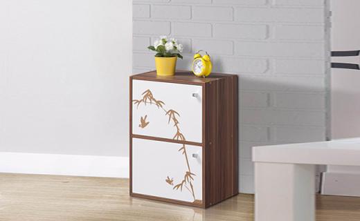 好事达收纳柜:实木颗粒板材质,一柜多用轻松收纳