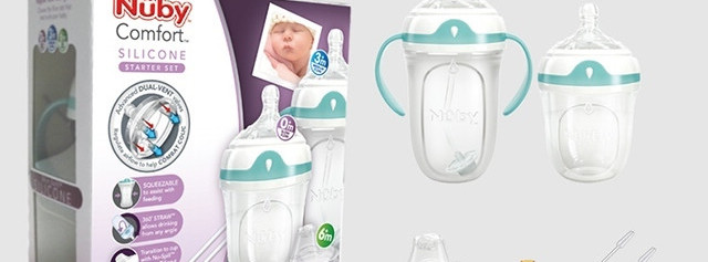 超级准奶爸首测Nuby Comfort硅胶奶瓶组合装